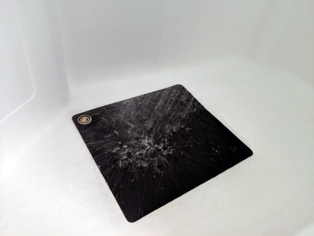 Mousepad taking a shower