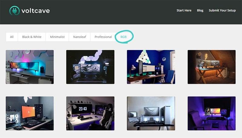Plenty of RGB setups to look at on Voltcave.