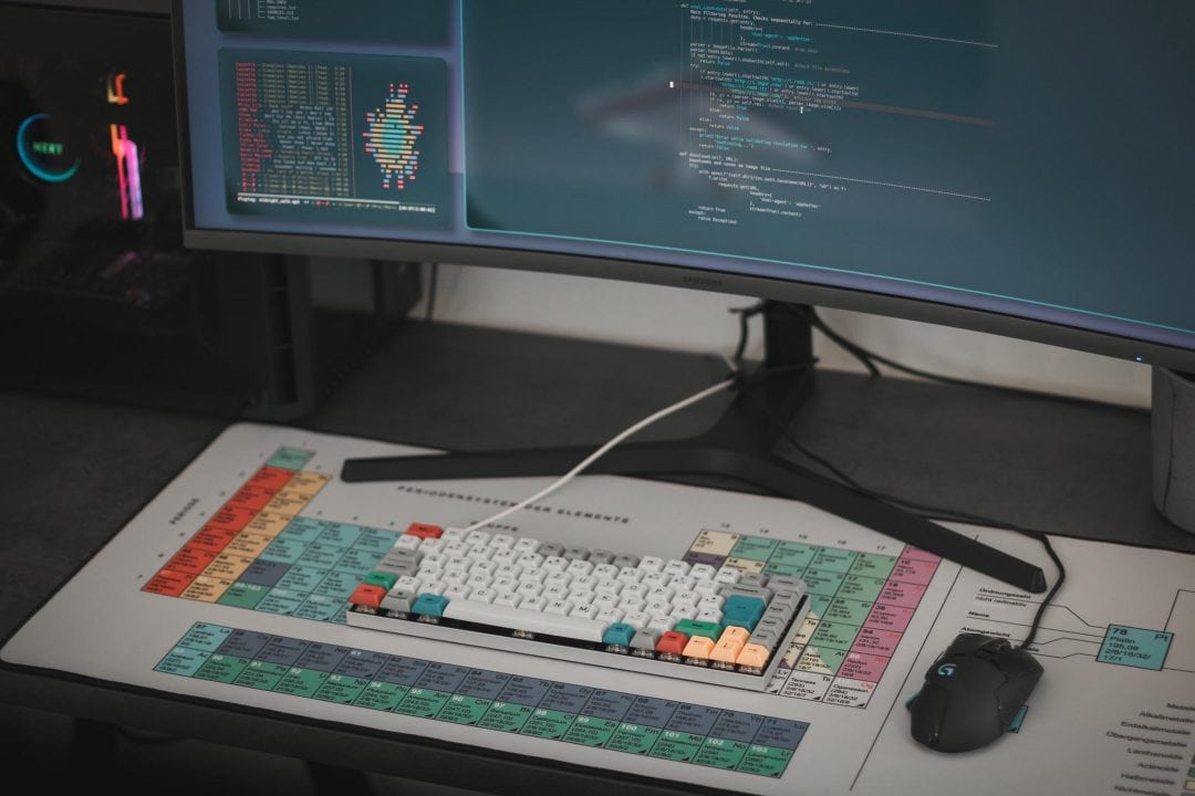Mousepad with printed design
