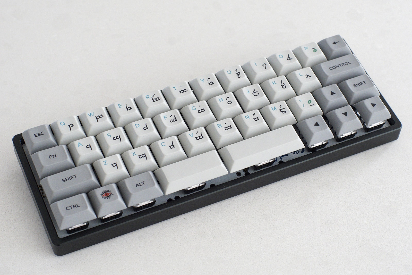40% keyboard size example