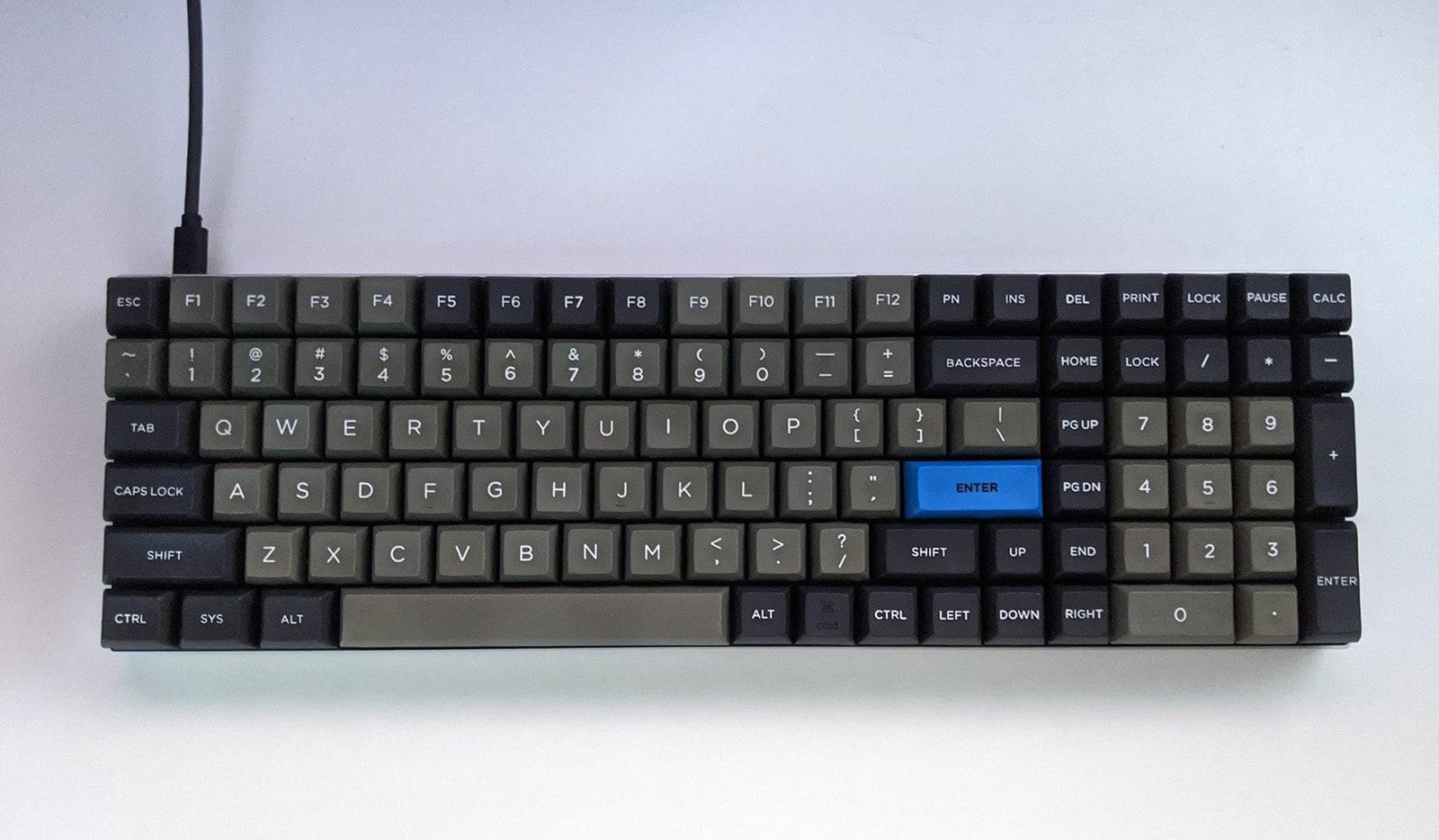 96 key example (96% keyboard)