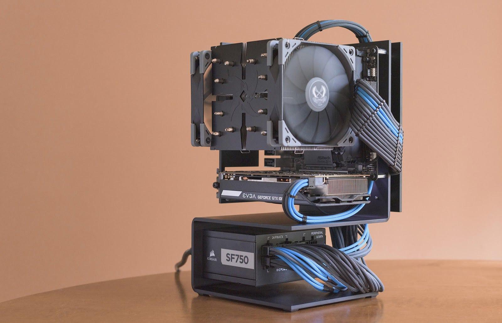 The weird modern art version of a PC case, in a good way.