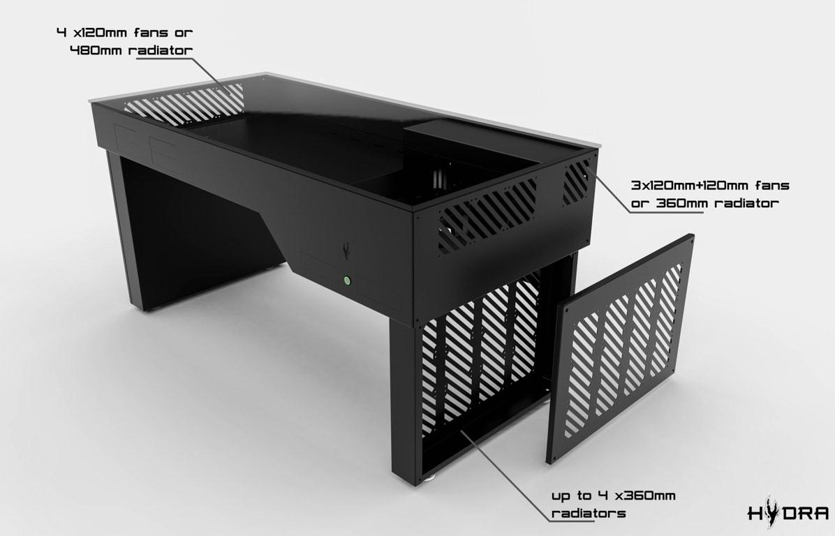 Hydra Desk PC Case