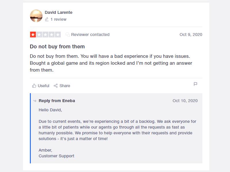 eneba negative review
