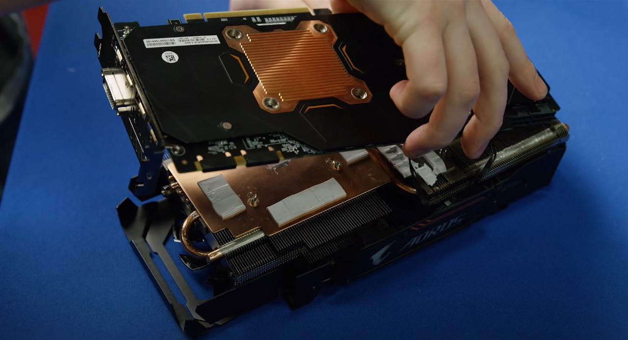 Removing GPU backplate with a heatsink didn't affect temps.