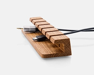 Batelier Handicraft Wooden Cable and Charger Organizer