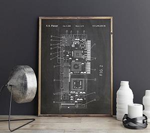 WallBuddy Graphics Card Patent Print