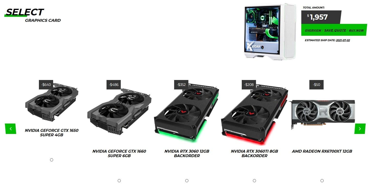 XIDAX GPU selection
