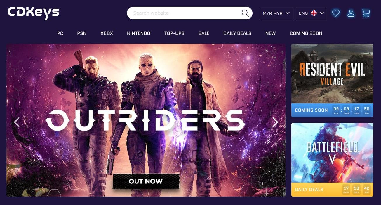 cdkeys homepage