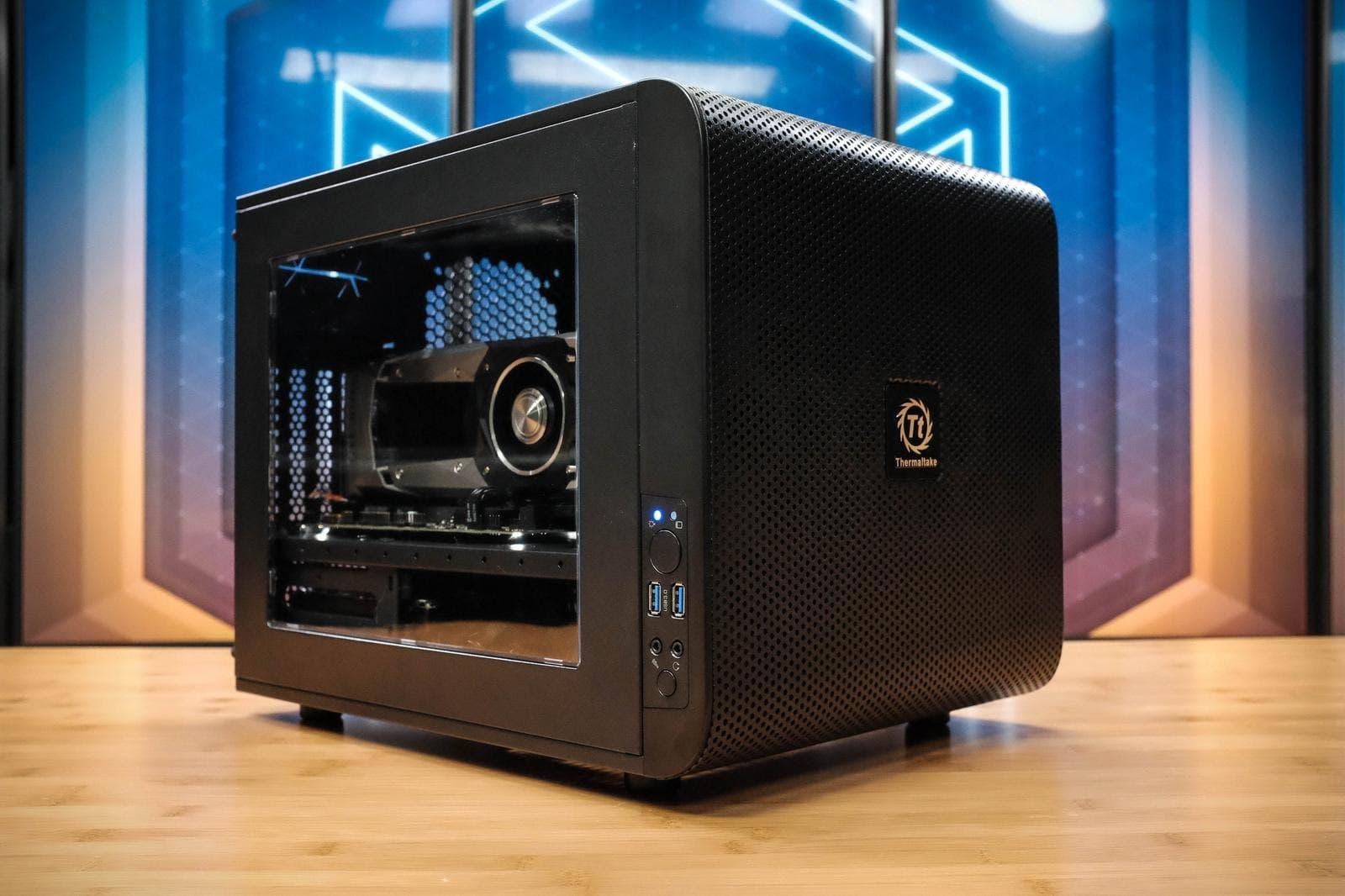 thermaltake core v21 cube pc case build