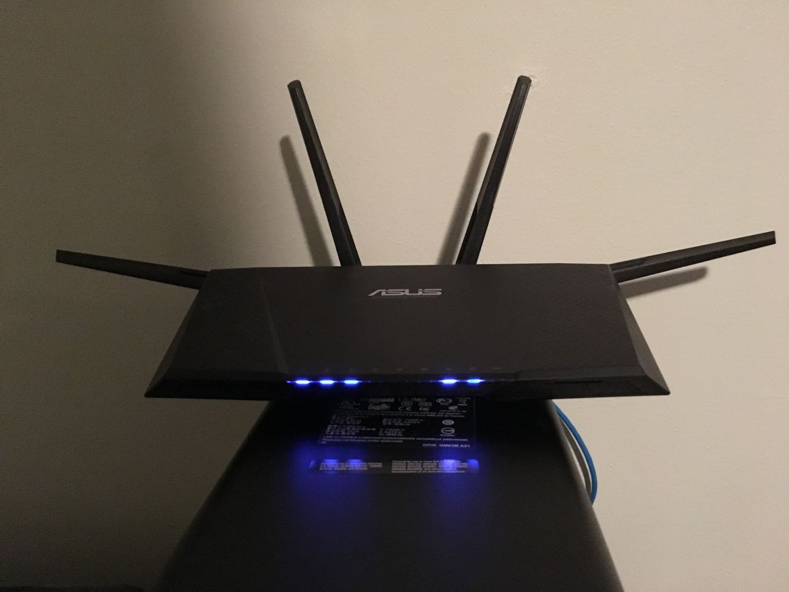 wifi router antenna position