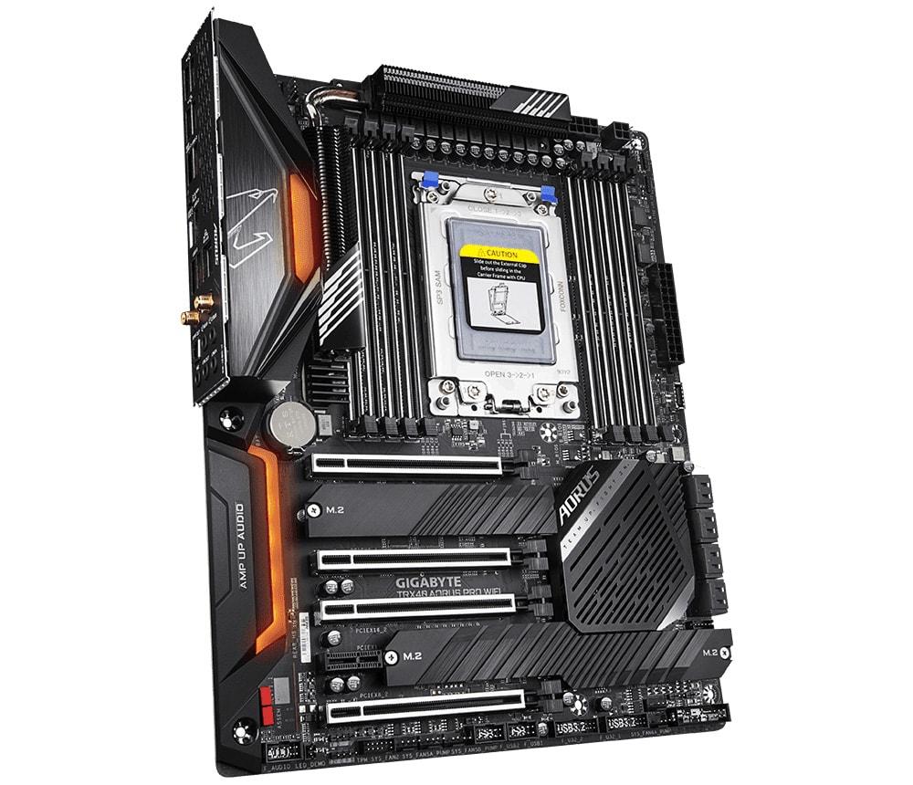 The Gigabyte TRX40 PRO WiFi motherboard