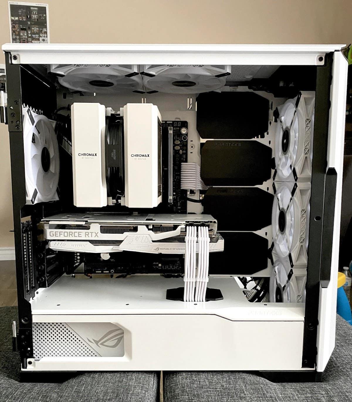 Phanteks P500A build example