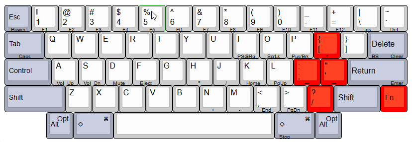 HHKB Pro 2's key layout