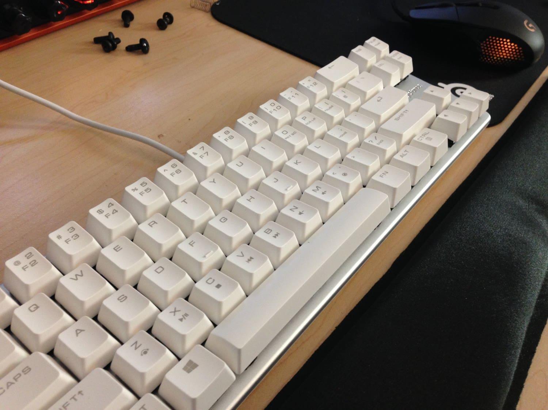 Qisan White Mechanical Keyboard