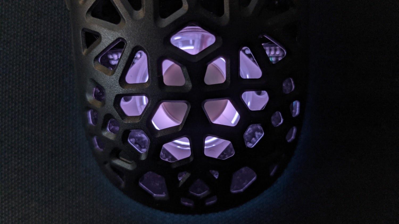 Zephyr Pro Mouse fan close-up