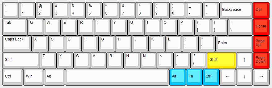 Durgod Keyboard Layout
